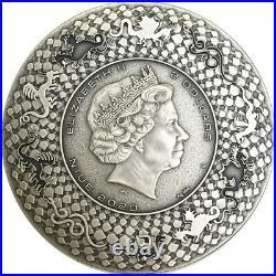 Niue 2020 Dragons Aztec Dragon $2 silver coin 2 oz
