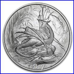 Nordic Creatures 5 1 Oz. 999 Silver Coins Set-dragon-eagle-hellhound-slepnir
