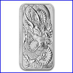 PRE-SALE 2021 Australia Dragon 1oz $1 Rectangular BU Silver Coin Tube of x 20