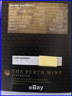 Perth Mint 2018 Figure 8 Dragon 2 oz Silver Coin