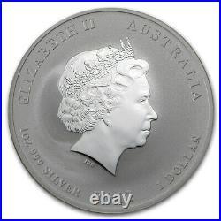 Perth Mint Australia $ 1 Dollar Gilded Dragon 2012 1 oz. 999 Silver Coin withCOA