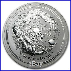 Perth Mint Australia 2012 $10 Lunar Series II Dragon 10 oz. 999 Silver Coin