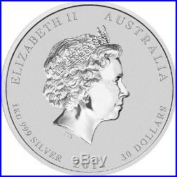 Perth Mint Australia $30 2012 Dragon 1 kg kilo Gemstone Eye. 999 Silver Coin
