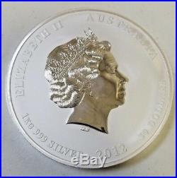 Perth Mint Australia $30 Lunar Series II Dragon 2012 1 kg kilo. 999 Silver Coin