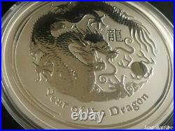 Perth Mint Lunar 10 Oz Silver Dragon. 999 fine