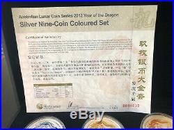 Perth Mint Lunar Series II 2012 Year of the Dragon 1oz. 999 Silver Ten-Coin Set
