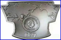 Phoenix And Dragon 2021 Ghana 50g Oriental Culture Silver Coin 10 Cedis
