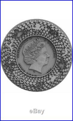 Presale 2019 niue norse dragon 2oz Silver Coin