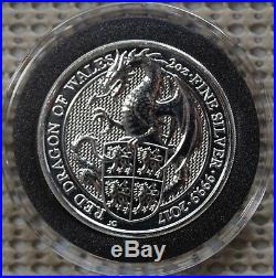 Queens Beast 2017 Dragon 2 Oz Silver Roll Of 10. Gems. Free Priority Mail