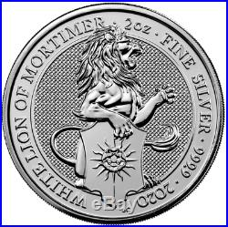 Queens Beast 2oz Silver coin Lion Griffin Dragon Unicorn Bull Yale Falcon or set