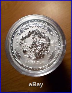 RARE! 2000 Australian Silver Lunar Dragon Series I MINT ROLL of 20! SEALED