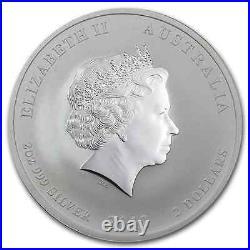 RARE 2012 PURE. 999 SILVER 2OZ YEAR of the DRAGON PERTH MINT $158.88
