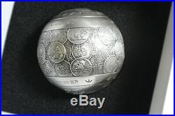 RARE 2019 China 30th Ann Dragon & Phoenix 1 Kilo Spherical. 999 Silver Ball