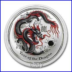 Rare Gem 2012 Silver Black Dragon Only 5000 Minted Coa & Box $128.88