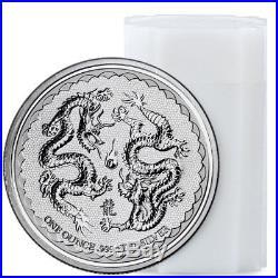 Roll of 20 2018 Niue 1 oz Silver Double Dragon -Pearl of Wisdom $2 BU SKU53656