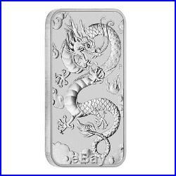 Roll of 20 2019 1 oz Silver Australian Dragon Coin Bar $1 BU (Tube, Lot of 20)