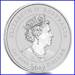 Roll of 20 2021 1 oz Silver Lunar Year of The Ox Dragon Privy BU Perth Mint