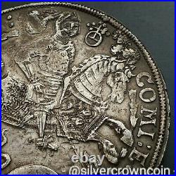 SCC Mansfeld Bornstedt Taler 1611. Silver Crown Thaler Dollar coin Dragon Knight