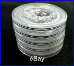 SEALED ROLL 5 x 2 troy oz Perth Mint. 999 Silver Lunar Dragon Bullion Coin 2012