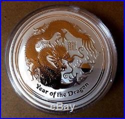 SEALED ROLL of 2012 2 oz Silver Australian Lunar Year of the Dragon Coin dollar
