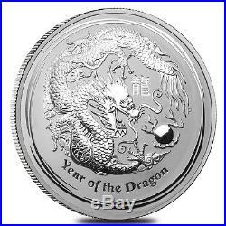 Sale Price 2012 1 Kilo Silver Lunar Year of The Dragon BU Australian Perth Min