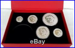 Sammlung 18.5 Oz Drache Lunar 2 Silber Münze Silver Coin Dragon 2012 + Box