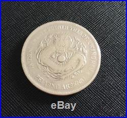 Scarce China Chihli Peiyang Arsenal 24th Year 1898 Dragon Dollar coin