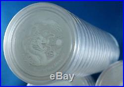 Sealed Roll of 20 2012 Australia Year of the Dragon 1/2 Ounce. 999 Silver Coins