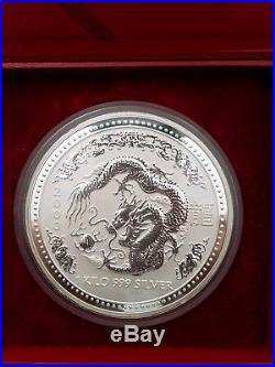 Series 1 Australian lunar dragon 1 kilo coin