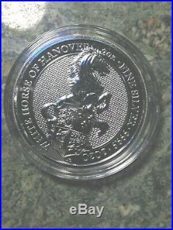 Set 9 Queens Beast 2 Lion-Griffin-Dragon-Unicorn-Bull-Falcon-Yale-Horse BU Caps