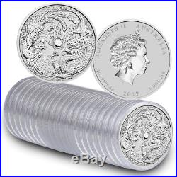 Special Offer 2017 Roll 1oz Silver Dragon Phoenix BU Coins (20 in total)