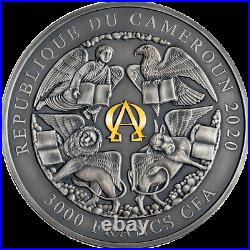 St. Michael and the Dragon Apocalypse 3 oz Silver Coin Cameroon 2020
