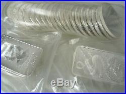 THIRTY 30 silver 999 bullion coins 1oz Britannia 2014 2015-2019 & Dragon bars