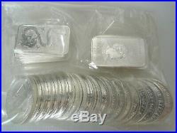 THIRTY silver 999 bullion coins 1oz Britannia 2014 2015 & 2019 Dragon bars