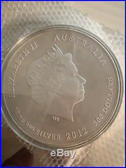 Ten Kilo. 999 Silver Dragon Australian 2012 Coin Rare Only 500 Minted