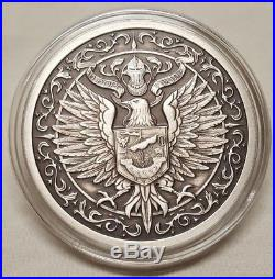 The Destiny Series 3pc. Antiqued Coin Set Raven Dragon Shield Silver Round Coin
