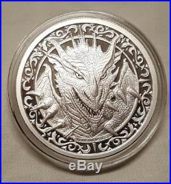 The Destiny Series 3pc. Proof Coin Set Raven Dragon Shield Silver Round Coin