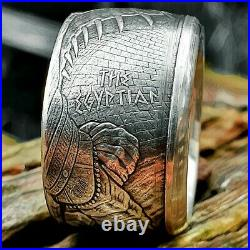 The Egyptian. 999 Pure Silver Handcrafted Dragon Coin Ring