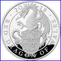 The Queen's Beasts The Red Dragon of Wales 2018 UK £2 1oz Silver Proof Coin