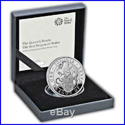 The Queen's Beasts The Red Dragon of Wales 2018 UK One Ounce Silver Proof Coin