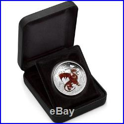 Tuvalu 2012 1$ Dragons of Legend RED WELSH DRAGON 1Oz Silver Coin