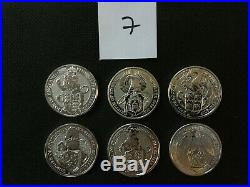UK Queen's Beasts 6 2 oz Silver Coins-Lion Griffin Dragon Unicorn Bull Falcon 7