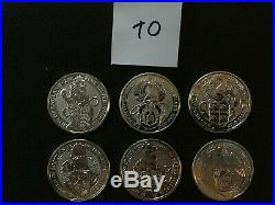 UK Queens Beasts 6 2 oz Silver Coins-Lion Griffin Dragon Unicorn Bull Falcon 10