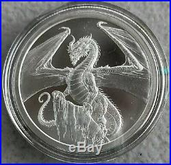 WORLD OF DRAGONS Full Silver Set of 6 BU 1 oz silver. 999 Coins / Rounds