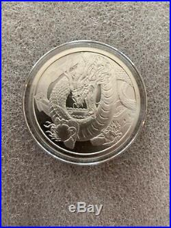 World of Dragons 4 BU Silver Rounds Aztec Welsh Chinese Norse in Capsules